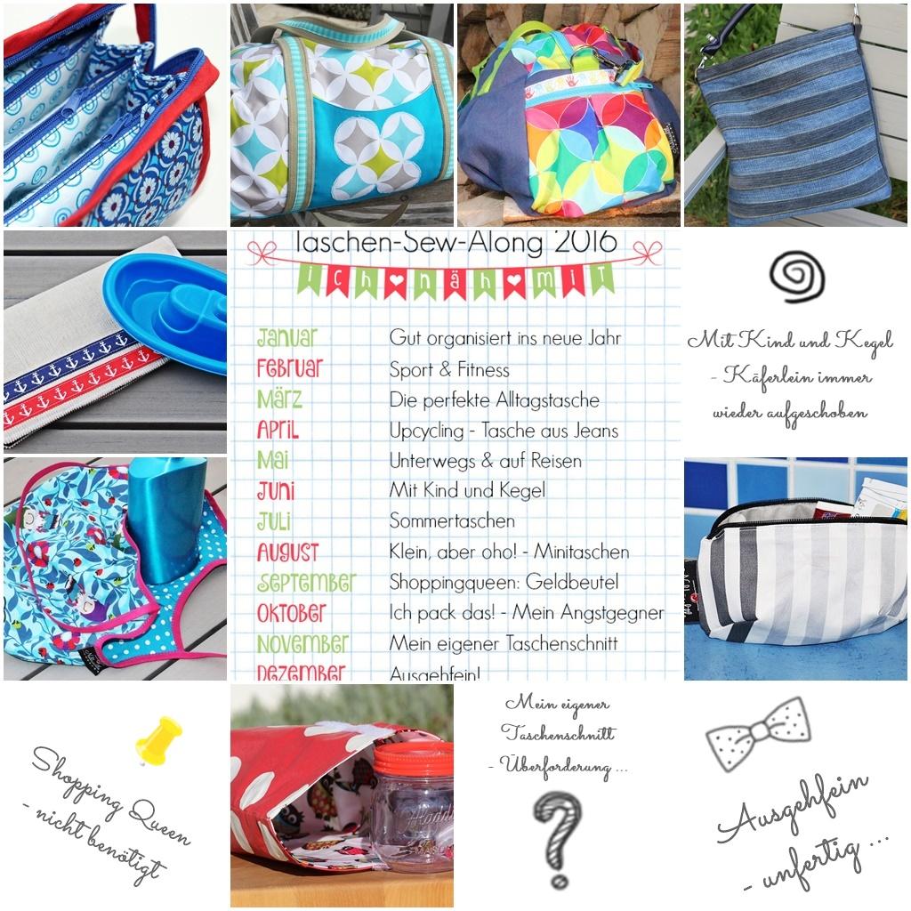 Taschen – Sew – Along 2016 – Bilanz